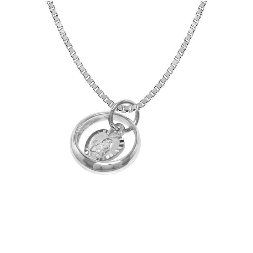 trendor 39577 Halskette und Taufring mit Engelherz 925 Silber