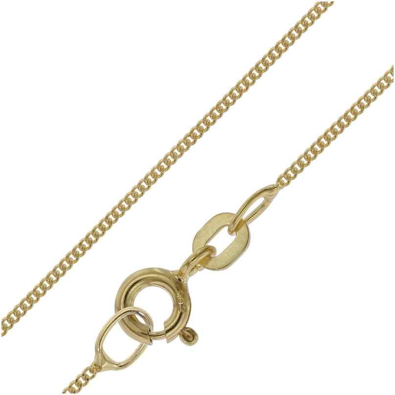 trendor 39590 Halskette für Anhänger 585 Gold Flachpanzer-Kette Breite 0,8 mm
