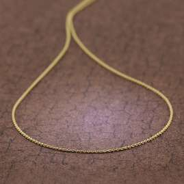 trendor 39708 Halskette für Anhänger Gold 585 / 14K Rundanker-Kette 1,1 mm