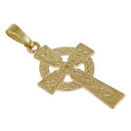 trendor 39782 Keltenkreuz 333 Gold mit vergoldeter Silberkette