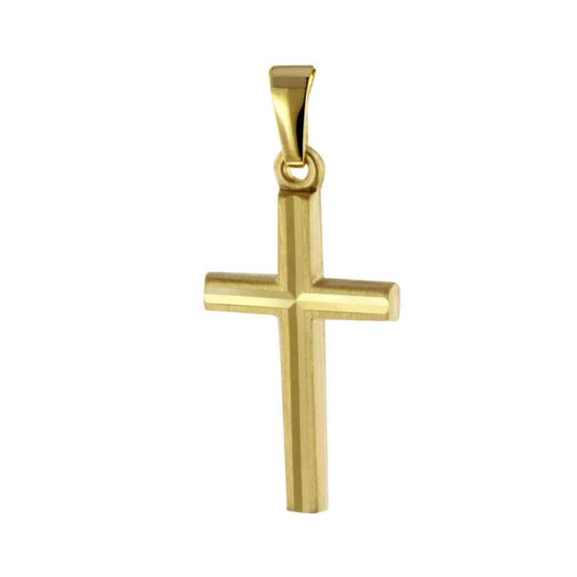 trendor 51093 Kreuz Anhänger 20 mm Gold 333 / 8K 4260727510930