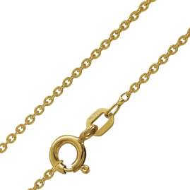 trendor 51140 Engel Anhänger Gold 333 / 8K + vergoldete Silberkette für Kinder