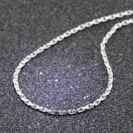 trendor 51125 Men's Necklace 925 Silver Anchor Chain 2.5 mm
