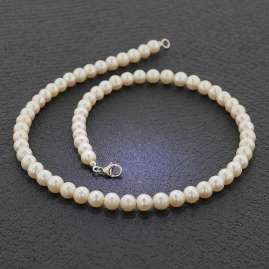 trendor 51650 Pearl Necklace Freshwater Cultured Pearls 7-8 mm