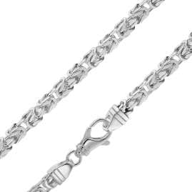trendor 86106 Byzantine Chain Bracelet for Gents Silver 925 Width 4,7 mm
