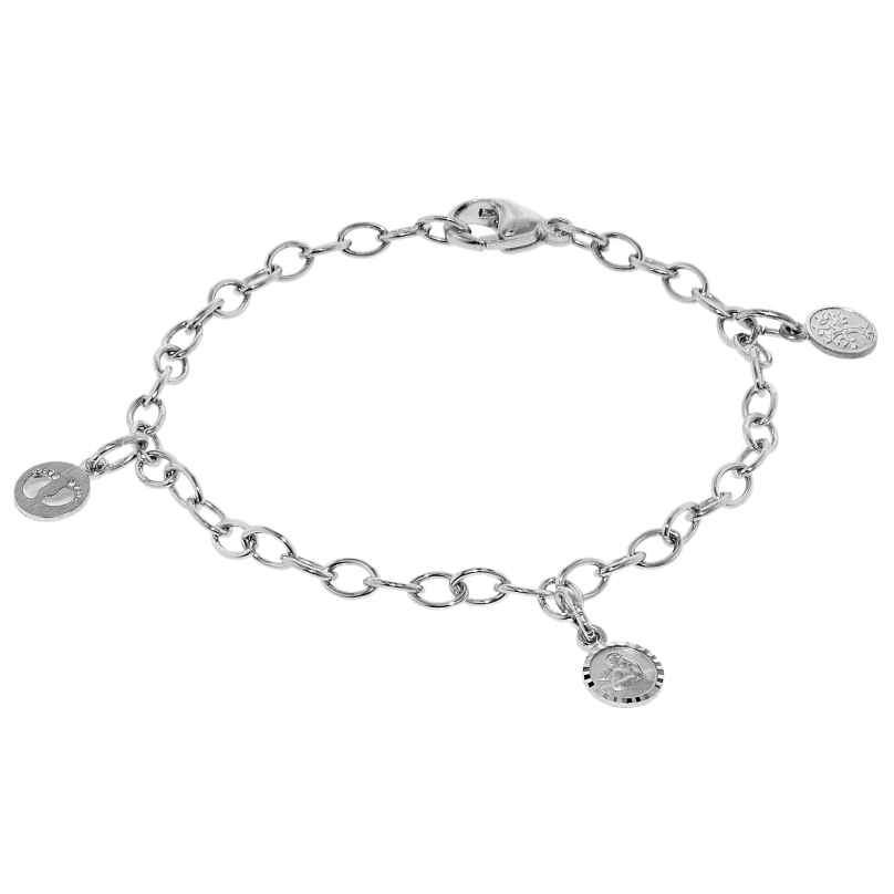 trendor 08277 Kinder-Armband mit 3 Einhängern Silber 925 4260497082774