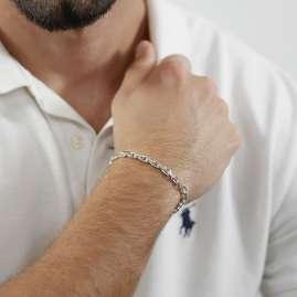 trendor 08633 Armband für Männer 925 Sterlingsilber Anker 21 cm