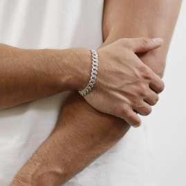 trendor 08640 Men's Bracelet Silver 925 Curb Chain Width 9.7 mm