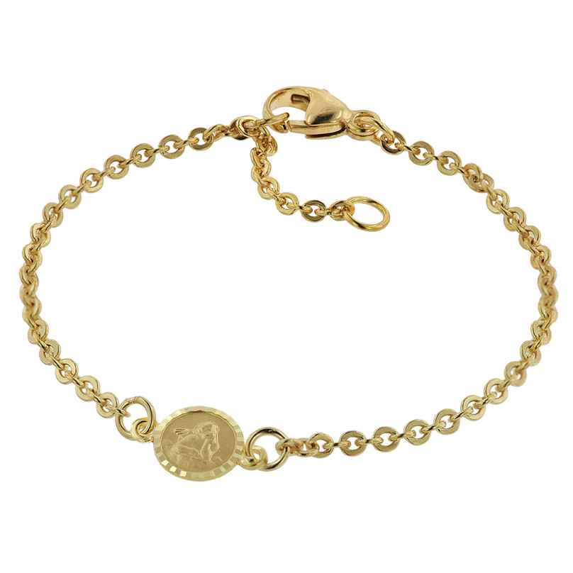 trendor 75090 Bracelet for Babies Gold 333/8 ct with Angel Plate 14 cm 4260641750900