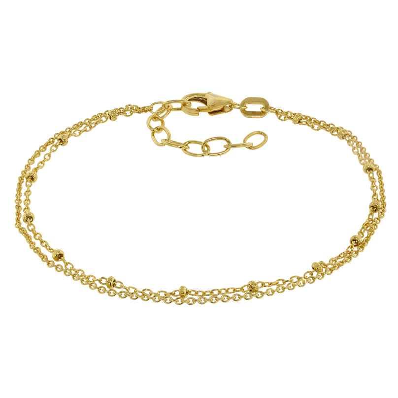 trendor 75132 Armband für Mädchen 925 Silber Vergoldet 16 cm 4260641751327