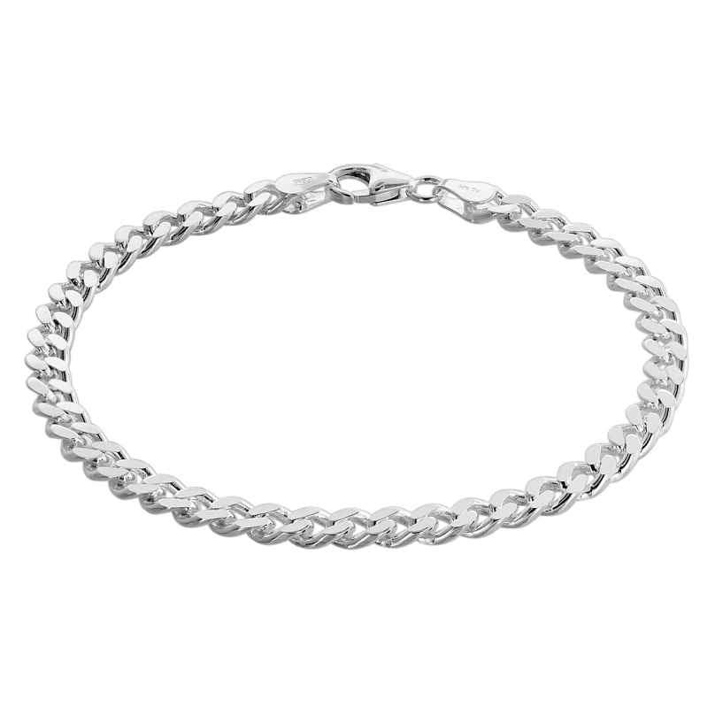 trendor 75136 Armband für Männer Silber 925 Flachpanzer 4,7 mm breit