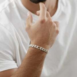 trendor 75143 Herren-Armband Silber 925 Figaro Breite 7,9 mm
