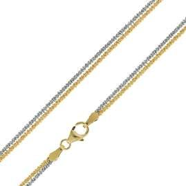 trendor 75147 Bracelet Criss-Cross Sterling Silver 925 Two-Tone
