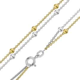 trendor 75237 Bracelet for Young Ladies 925 Silver Two-Colour