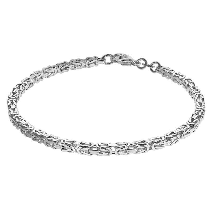 trendor 75236 Armband Königskette Sterlingsilber 925 Stärke 3,2 mm