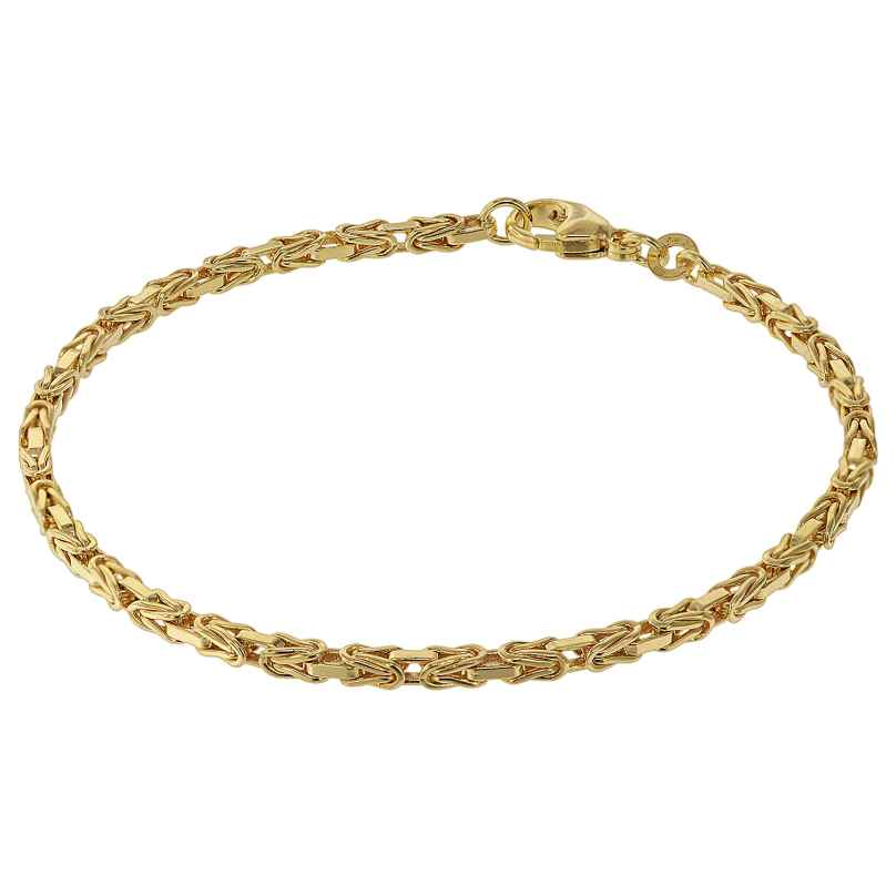 trendor 75296 Bracelet for Women Byzantine Chain Gold 333 (8 Carat) 4260641752966