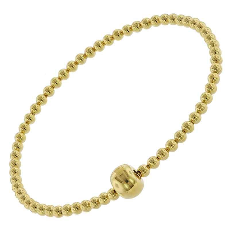 trendor 75661 Elastisches Damen-Armband Silber Vergoldet 4260641756612