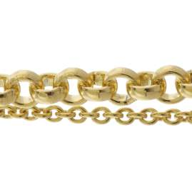 trendor 75663 Ladies' Bracelet Double Row Gold Plated Silver