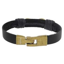 trendor 75799 Leather Bracelet Infinity Black