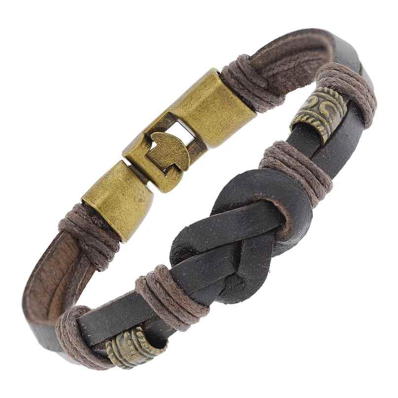 trendor 75806 Leder-Armband für Damen und Herren Braun 4260641758067
