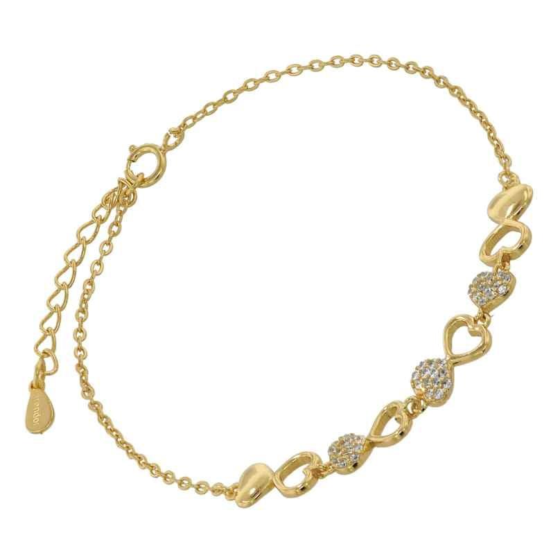 trendor 75850 Damen-Armband Gold auf Silber Herz Zirkonias 4260641758500