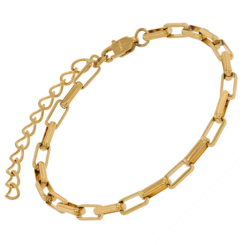 trendor 75881 Bracelet Gold Plated Steel Wide Anchor Chain 4260641758814