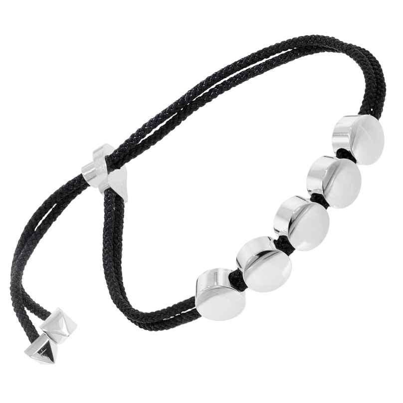 trendor 75890 Damen-Armband Schwarz und Edelstahl 4260641758906