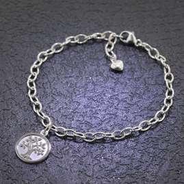 trendor 51175 Mädchen-Armband mit Lebensbaum 925 Sterlingsilber 18 cm