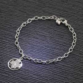trendor 51198 Kinder-Armband Kleeblatt 925 Silber 18 cm