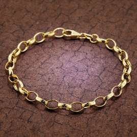 trendor 51206 Armband für Damen 925 Silber Vergoldet 19 cm