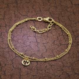trendor 51318 Armband für Mädchen 925 Silber Vergoldet 16 cm