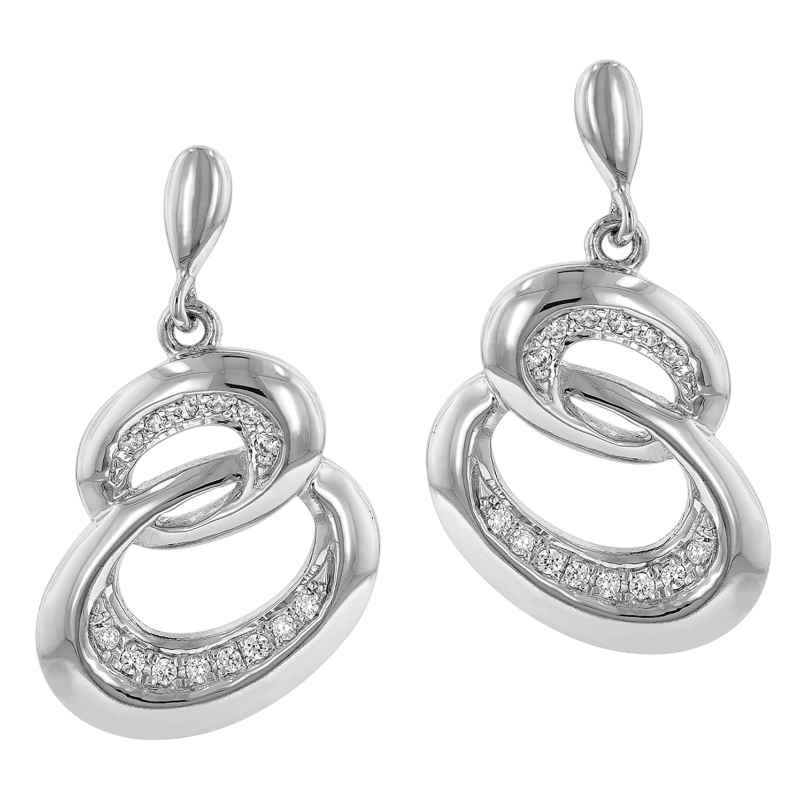 trendor 64970 Silber Ohrringe Zirkonia Ohrhänger 4260227764970
