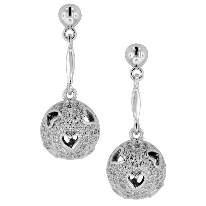 trendor 64994 Silber Damen-Ohrringe mit Zirkonias Ohrhänger Herz 4260227764994