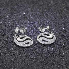 trendor 65038 Silber Damen-Ohrringe Zirkonia Ohrhänger