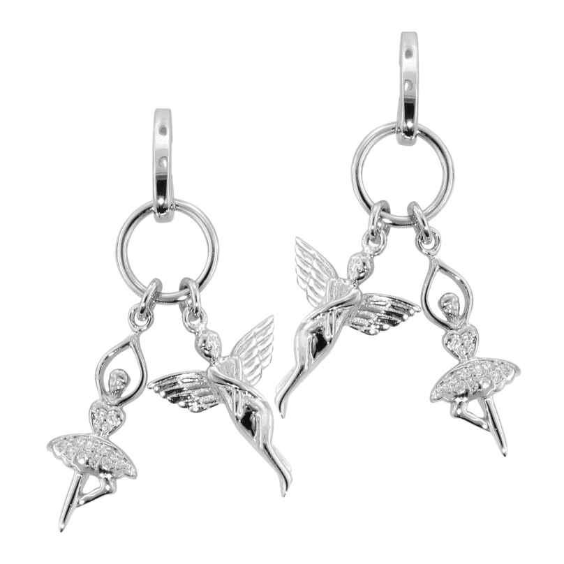 trendor 69968 Silber Damen-Ohrringe Elfe und Ballerina mit Zirkonia 4260227769968