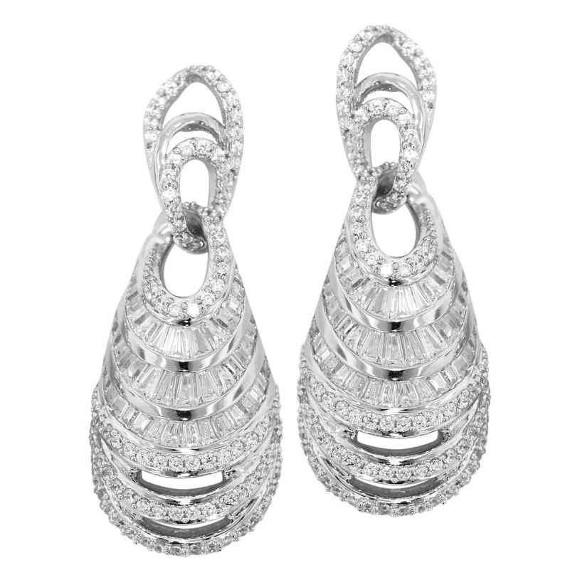 trendor 80722 Silber Ohrringe mit Zirkonias Ohrhänger Luxury 4260266580722