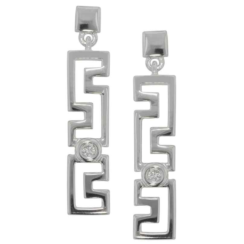 trendor 81064 Silber Damen-Ohrringe mit Zirkonia Ohrhänger 4260266581064