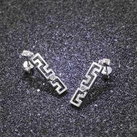 trendor 81064 Silver Women's Drop Earrings with Cubic Zirconia