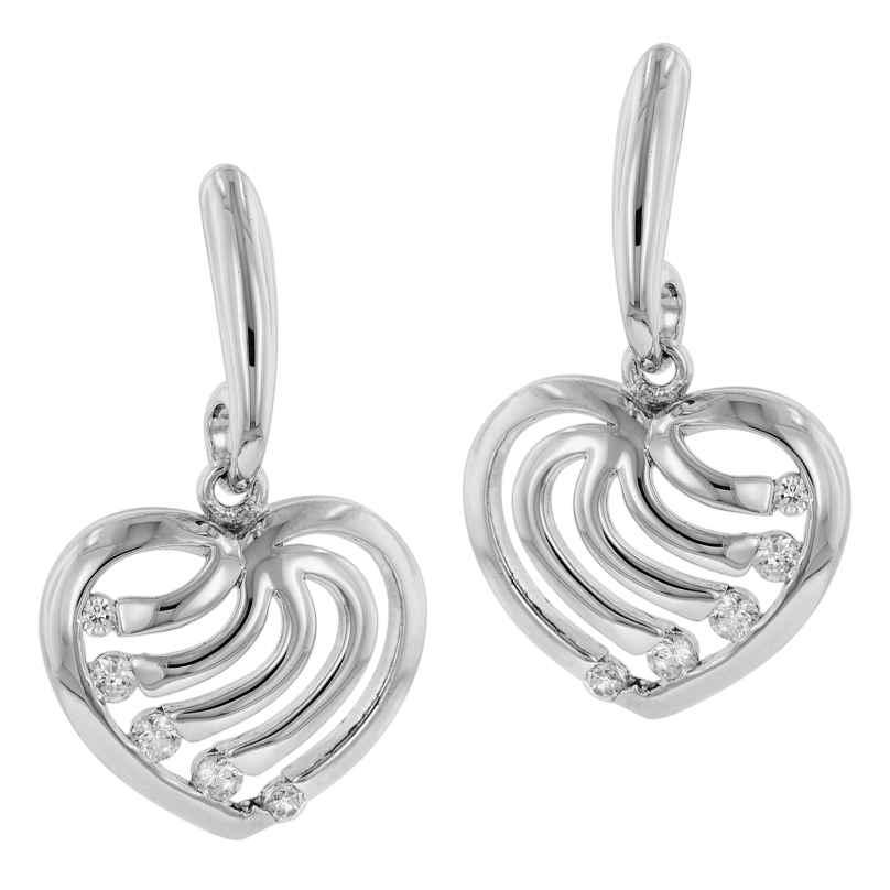trendor 81354 Silber Herz-Ohrringe mit Zirkonia 4260266581354