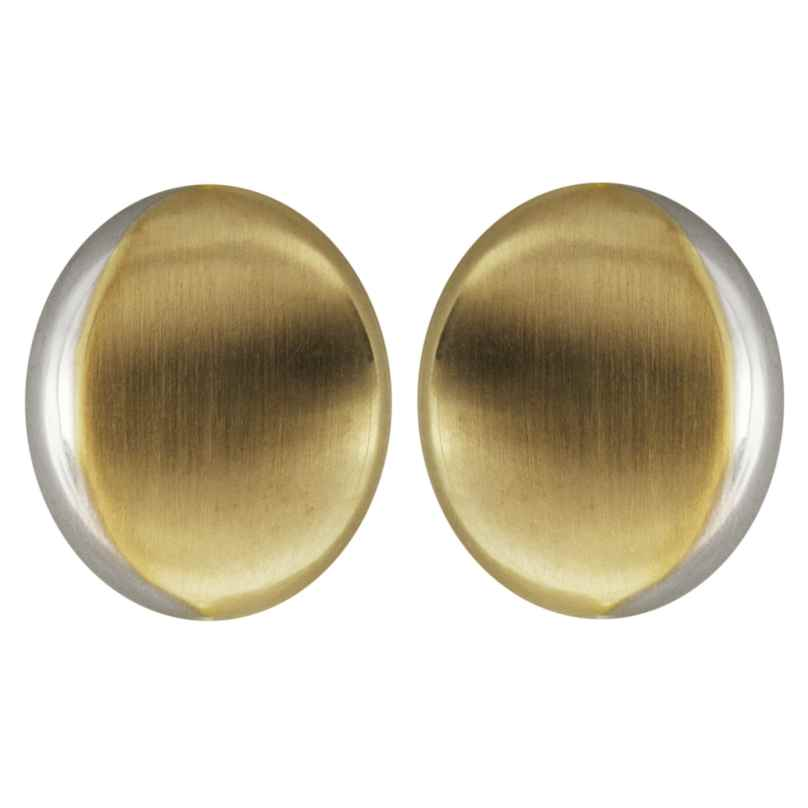 trendor 64260 Women's Stud Earrings Gold 333 Two-Colour round 4260227764260