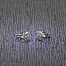 trendor 72733 Silver Earrings Angels