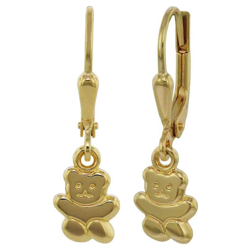 trendor 35740 Ohrringe für Mädchen Teddybär Gold 333 / 8 Karat 4260435357407
