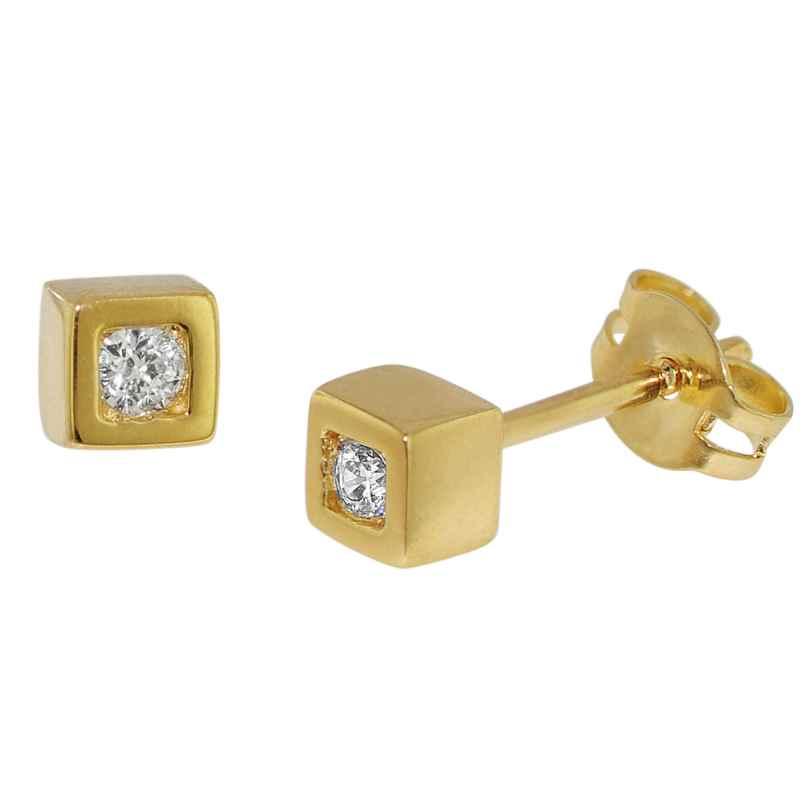 trendor 35758 Studs With Cubic Zirconia Gold 333 / 8 K 4260435357582