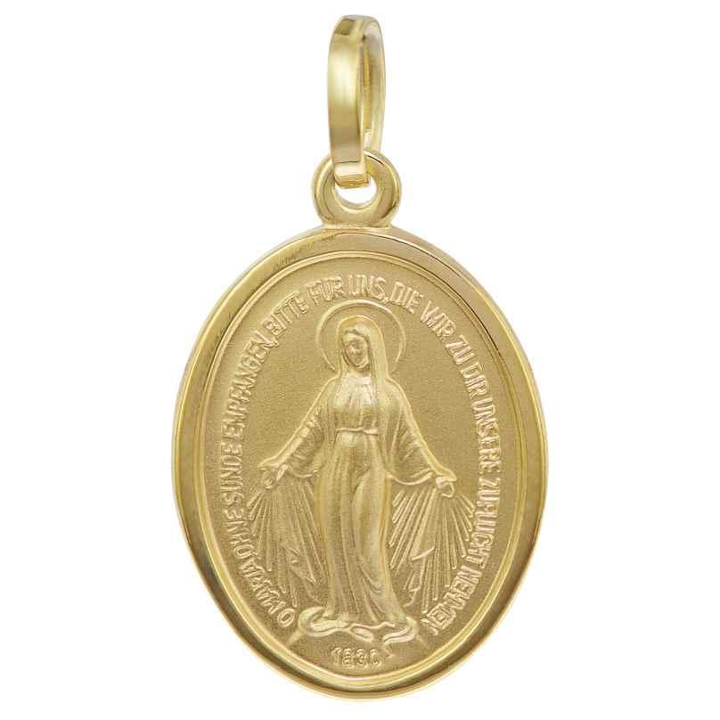 trendor 35771 Madonna Milagrosa Gold-Anhänger 8 Karat 16 mm 4260435357711