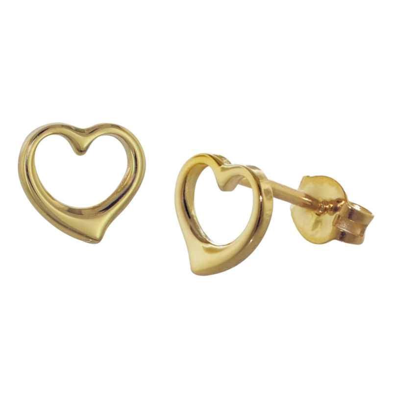 trendor 35815 Gold-Ohrringe Offenes Herz 4260435358152