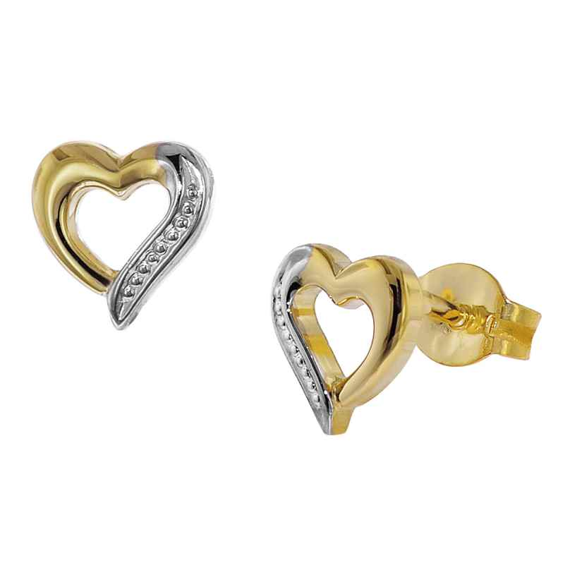 trendor 35817 Gold Earrings Heart 4260435358176