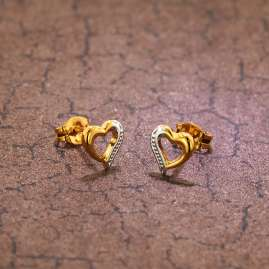 trendor 35817 Gold Earrings Heart