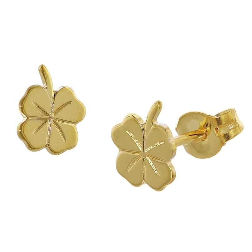 trendor 35924 Cloverleaf Earrings Gold 4260435359241