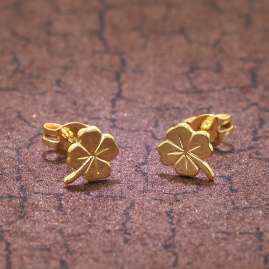 trendor 35924 Cloverleaf Earrings Gold