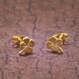 trendor 35924 Kleeblatt Ohrringe Gold